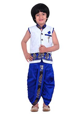 Kids White Dhoti Kurta Set