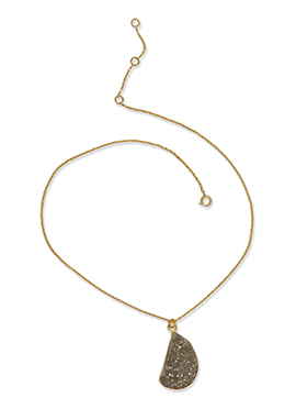 Kista Gold Plated Brown pendant