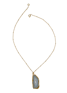 Kista Gold Plated Grey Pendent