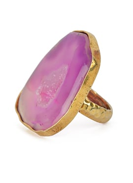 Kista Gold Plated Pink Ring
