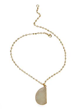 Kista Gold Plated White pendant