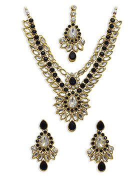 Kundan N Stone Ornate Necklace Set