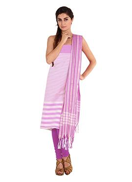 Lavender Cotton Churidar Suit