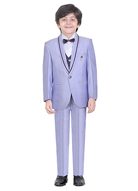 Lavender Cotton Kids Suit