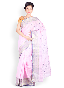 Lavender Cotton Saree