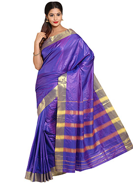 Lavender Mysore Art Silk Saree
