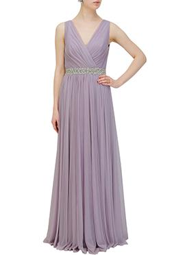 Lavender Net Gown