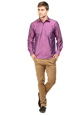 Lavender Pure Silk Classic Shirt