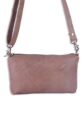 Leather Chocolate Brown Sling Bag