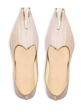 Light Beige Silk Mojris