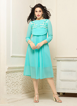 Light Blue Georgette Kurti