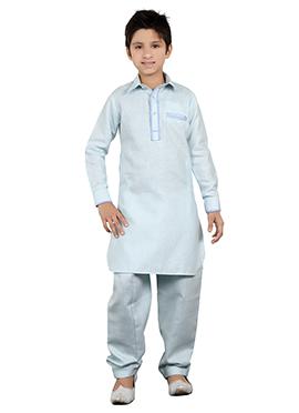 Light Blue Kids Kurta Pyjama