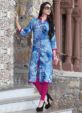 Light Blue Rayon Kurti