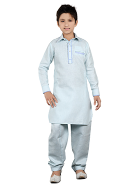 Light Blue Teens Kurta Pyjama
