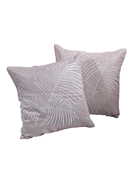 Light Brown Cotton Cushion Cover