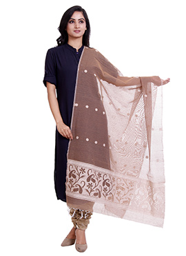 Light Brown Jute Net Dupatta