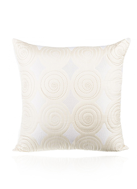Light Cream PolySilk Cushion Cover