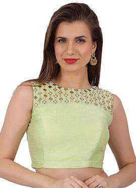 Light Green Art Silk Blouse
