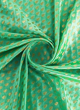 Light Green Brocade Fabric
