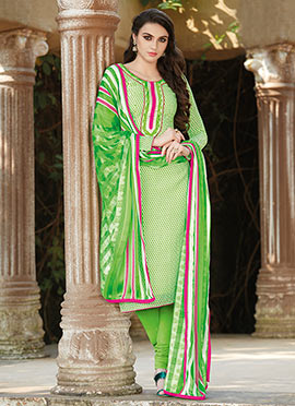 Light Green Churidar Suit