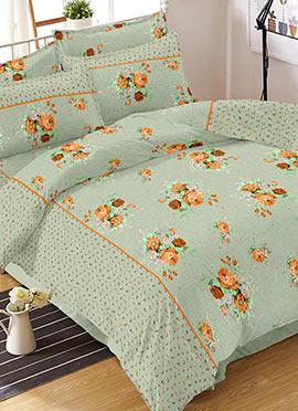 Light Green Cotton Bed Sheet