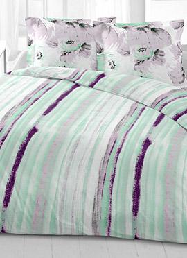 Light Green Cotton King Size Bed Sheet