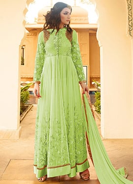 Light Green Georgette Anarkalli Suit
