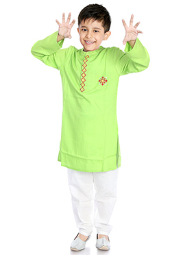 Light Green Kids Kurta Pyjama