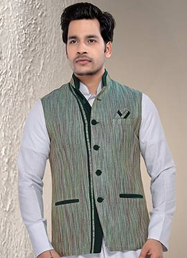 Light Green Nehru Jacket