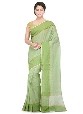 Light Green Printed Saree