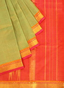 Light Green Pure Silk Pothys Saree