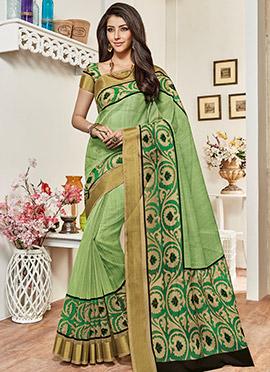 Light Green Super Net Saree
