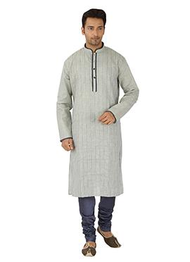 Light Grey Linen Cotton Kurta Pyjama