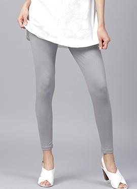 Light Grey Plain Leggings