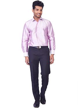 Light Lavender Pure Silk Classic Shirt