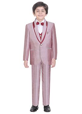 Light Mauve Cotton Kids Suit