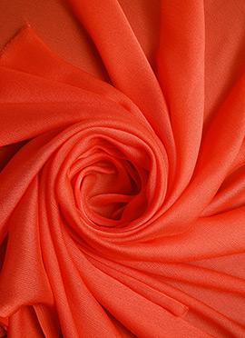 Light Orange Chiffon Fabric
