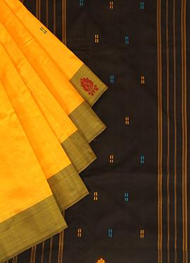 Light Orange Pure Silk Pothys Saree
