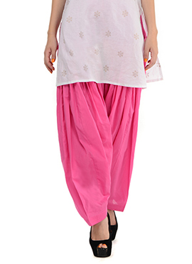 Light Pink Blended Cotton Patiala Pant