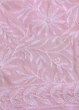 Light Pink Chikankari Fabric