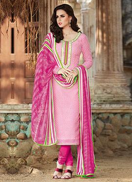 Light Pink Churidar Suit