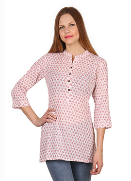 Light Pink Cotton Kurti