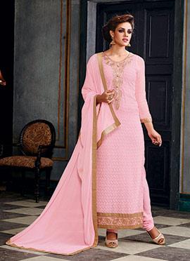 Light Pink Georgette Pakistani Suit