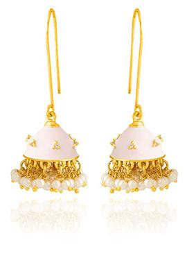 Light Pink Jhumka Style Hook Earring