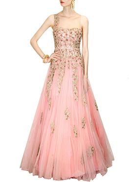 Light Pink Net Gown
