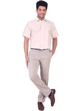 Light Pink Pure Silk Classic Shirt