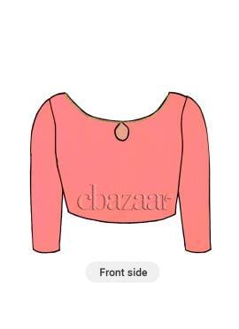 Light Pink U Neck Dupion Silk Blouse