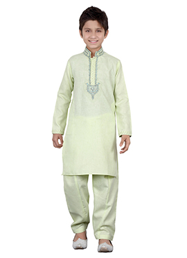 Light Pista Green Teens Kurta Pyjama