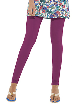 Go Colors Light Purple Cotton Churidar Bottom
