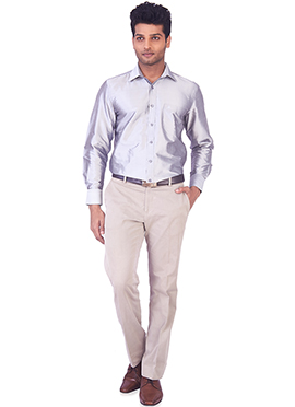 Light Purple Pure Silk Classic Shirt